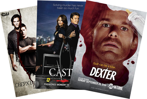 Supernatural, Castle, Dexter
