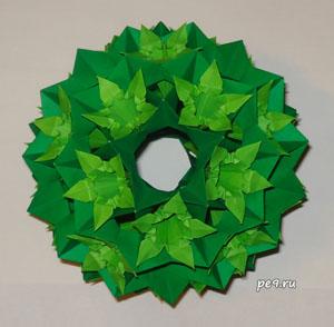 Кусудама Электра и оригами-Ирисы