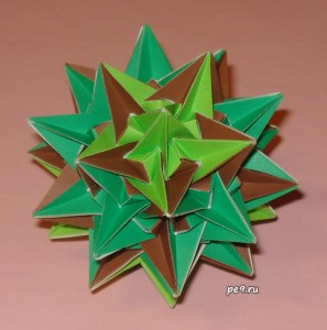 Firs and Stubs truncated icosahedron Kusudama