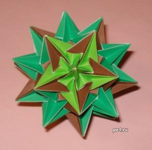Firs and Stubs truncated icosahedron Kusudama