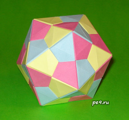 Схемы оригами додекаэдр