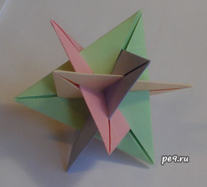Пересечение четырех треугольников