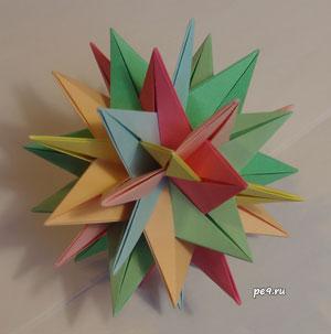 Пересечение семи шестиугольных звезд