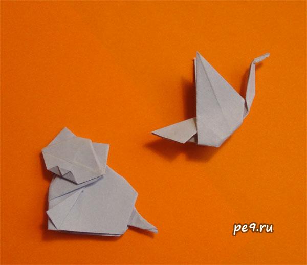 Диаграммы кота и птички тут.  Posted in. оригами.