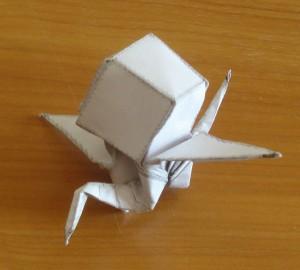 origami crane 3, оригами журавлик