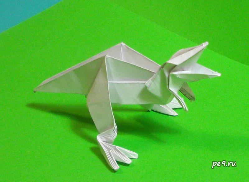 оригами динозавр / Deinonychus