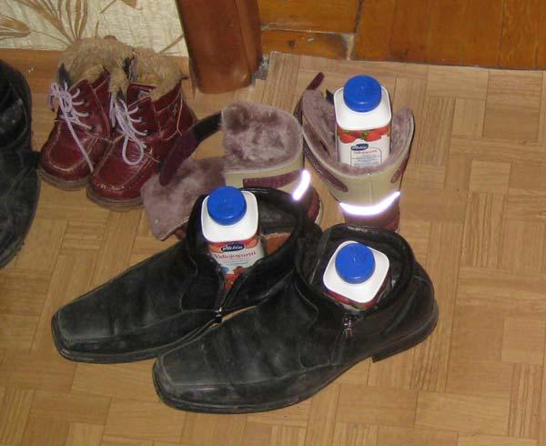 Обувь и йогурт