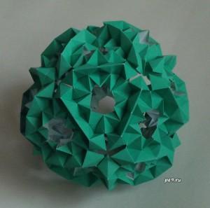Кусудама, оригами, эксперимент