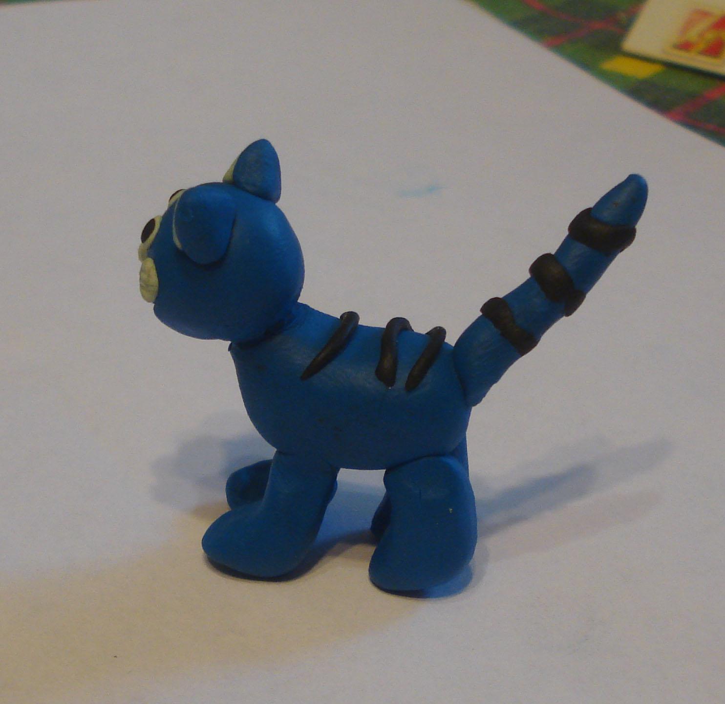 Как слепить из пластилина кота Гилберта?